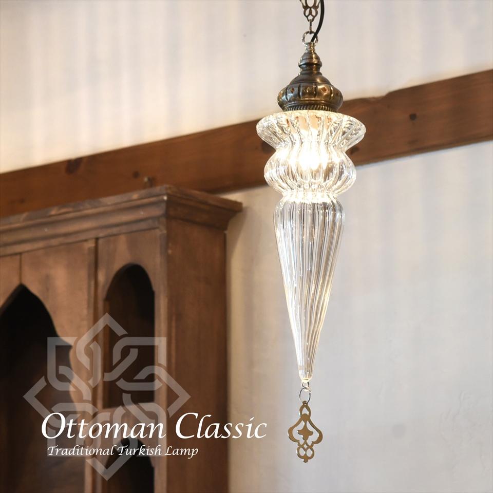 オットマンクラシックガラスシェードランプ・ペンダントライト・ペンダントランプ1灯/Ottoman Classic Traditional Turkish Lamp  lphop07