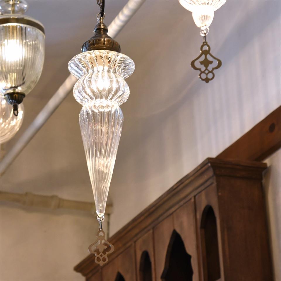 オットマンクラシックガラスシェードランプ・ペンダントライト・ペンダントランプ1灯/Ottoman Classic Traditional Turkish Lamp  lphop09